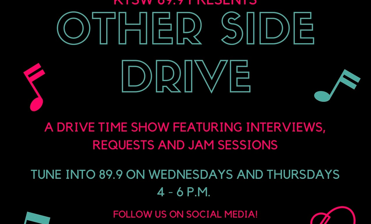 Black, green, pink poster promoting Other Side Drive