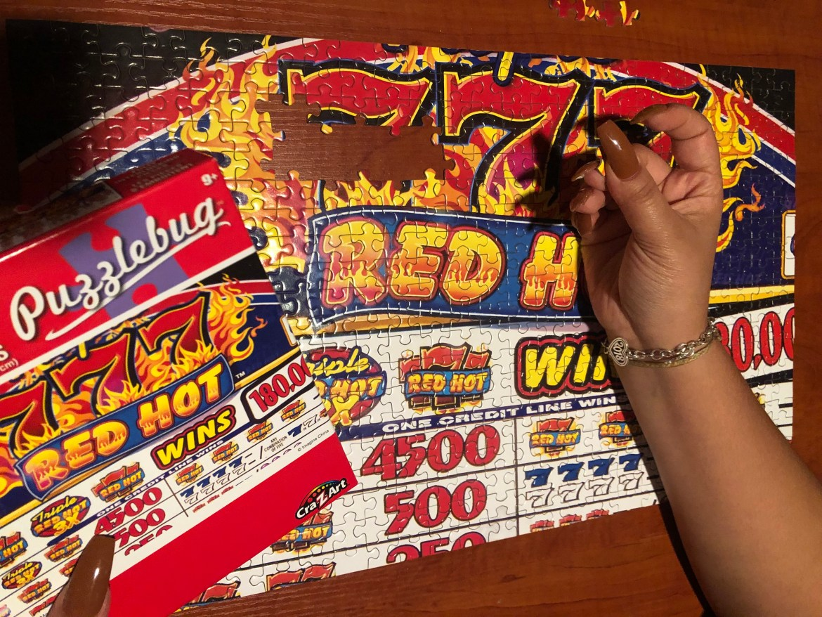 This is a picture of the puzzle almost being complete