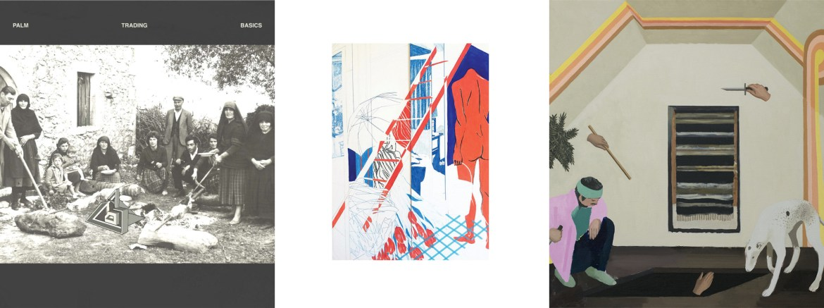 The album art of Palm's two albums and one EP