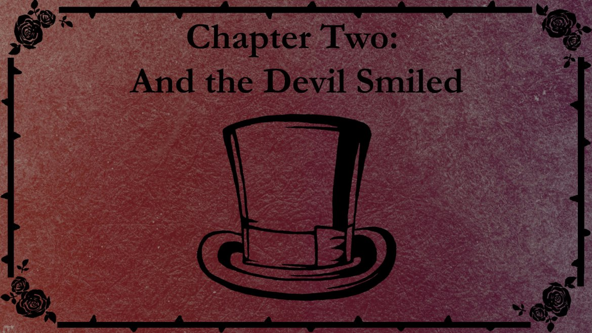 Chapter Two title slate with a drawing of Ashtad's top hat.