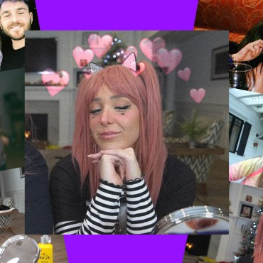 Collage of pictures of Jenna Marbles