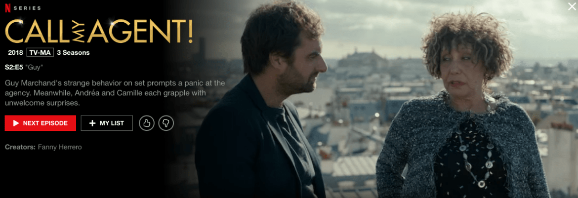 : Screenshot of the show Dix Pour Cent from Netflix