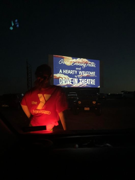 The big screen at Stars and Stripes