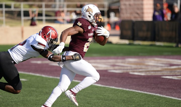 Texas State Football player