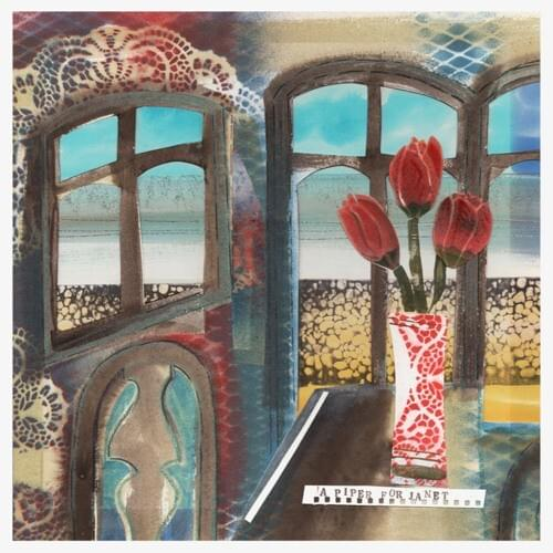 The cover of Pyke's sophomore album features a painting of roses in the foreground of a beach front view.
