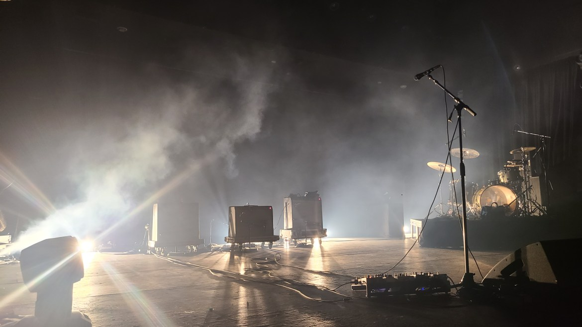 The empty stage before the band walks on