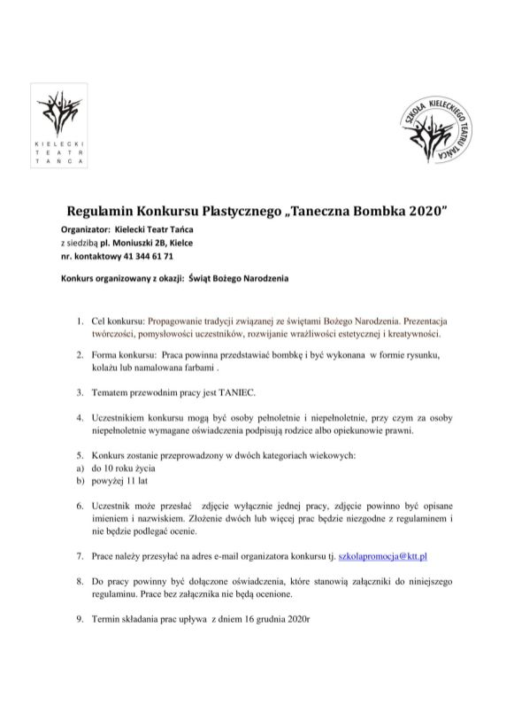 Regulamin Konkursu plastycznego taneczna bombka 2 poprawione-1