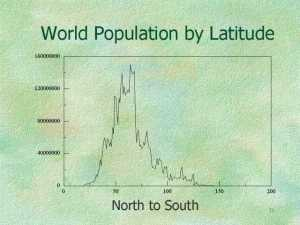 World population by latitude >>the world of unusual map projections | The k2p blog