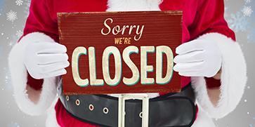 Utility Offices Closed for Christmas New Years