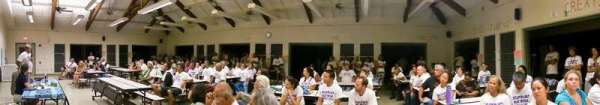 Hanalei School cafeteria during the Hāʻena hearing before the Division of Aquatic Resources.