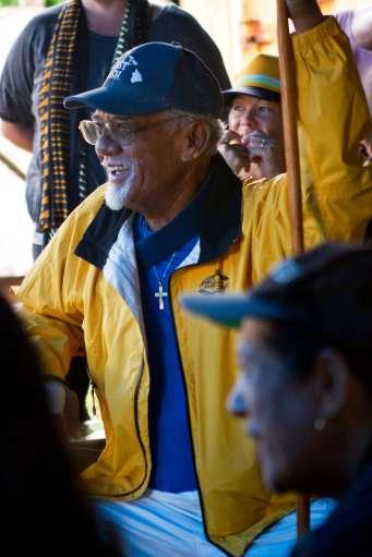 Uncle Jerry at the 2015 Limu Hui Gathering on Molokaʻi. Credit: Kim Moa