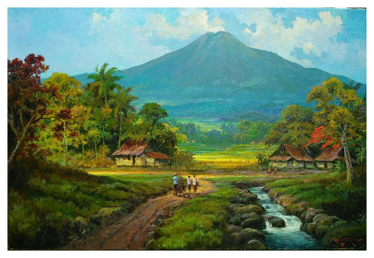 Lukisan Pemandangan Alam  Foto Bugil Bokep 2017