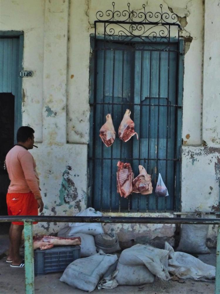Fleischverkäufer (Kuba 2020)