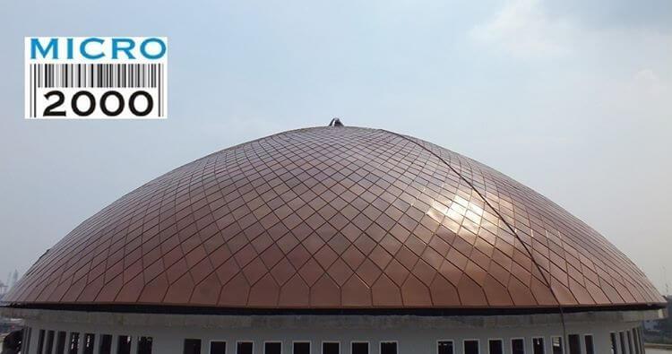 Kubah induk Masjid Jaya Konstruksi Jl. padamaran pos 3 Tanjung Priok - JKT (sebelah Terminal Tj. Priok)