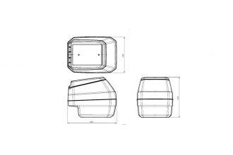 Кофр PZ 10 пластиковый HDPE для для Arctic Cat Вearcat 570