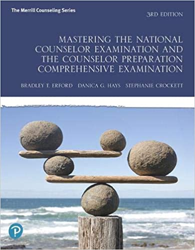 Mastering the National Counselor Examination and the Counselor Preparation Comprehensive Examination (9780135192450) Erford, Bradley, Hays, Danica, Crockett, Stephanie