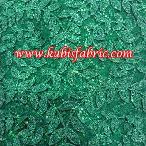 Net lace with 3d leave design