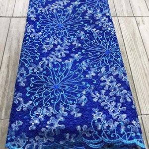 Blue net lace