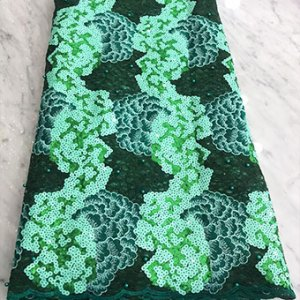 Emerald green net lace