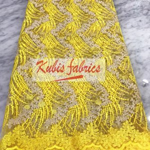 yellow strings net lace
