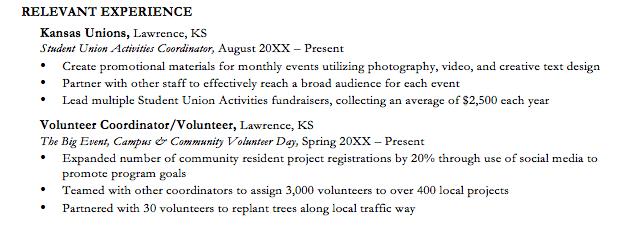 Volunteering—The Extra Boost Your Resume Needs – KU