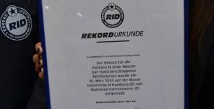 Die RID-Rekordurkunde