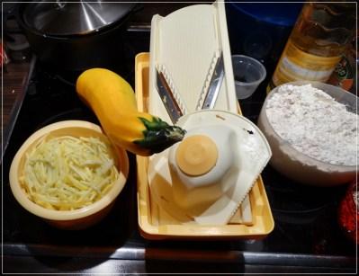 Zucchini-Kuchen-Zutaten