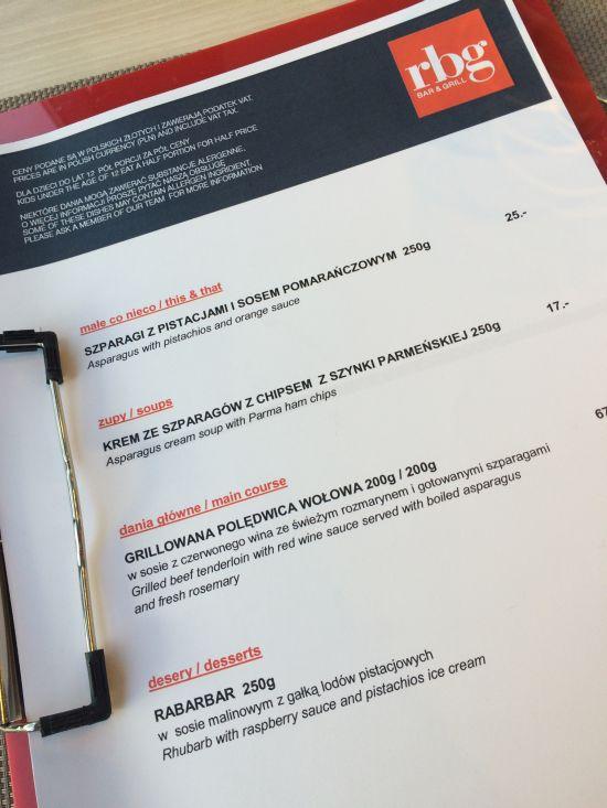 park inn menu