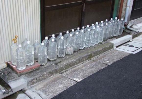 Botol Air untuk Mengusir Kucing