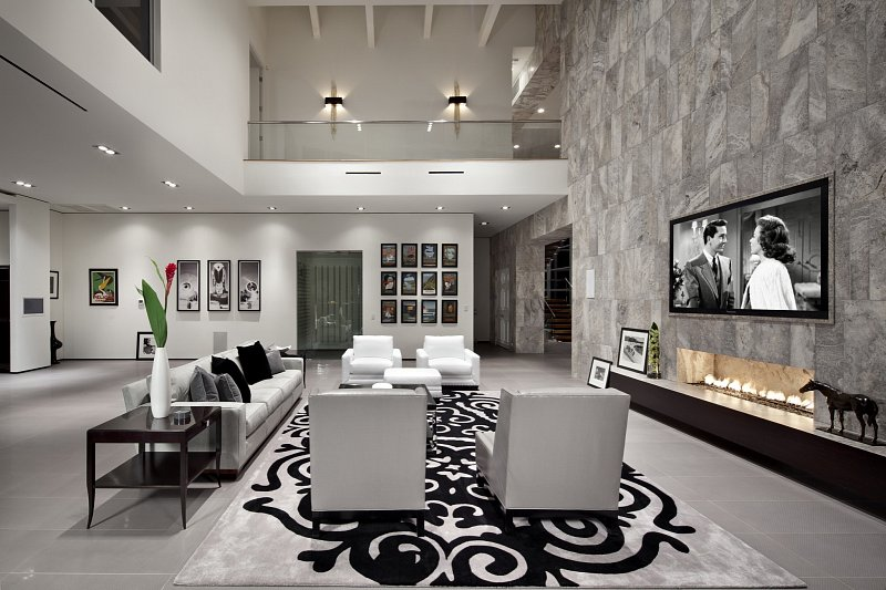 Modern Luxury  living room  KuDa Architectural Photography