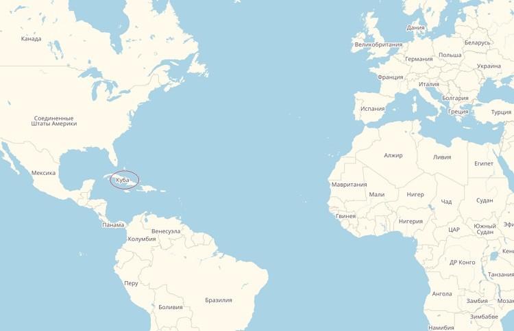 уменьшения где находится куба на карте мира фото подготовили лучшие стихи