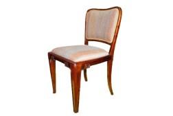 Krzesło art deco od kompletu do jadalni z wytwórni Stefana Iglickiego.