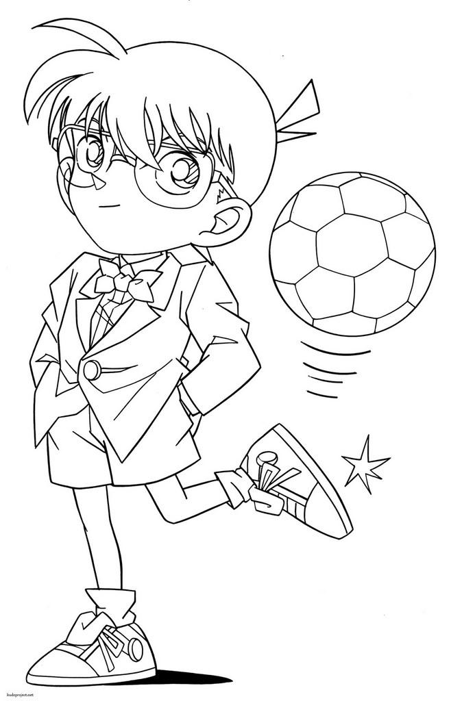 Detective Conan Coloring Pages Sketch Coloring Page