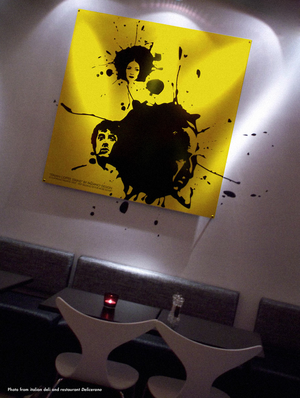 Italian Coffee Stains' artwork