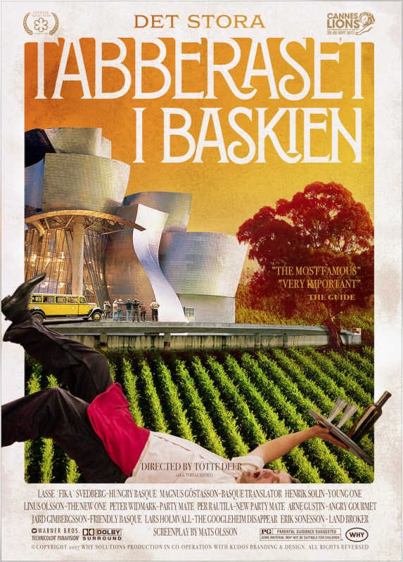 Retro filmaffisch, Tabberaset i Baskien.