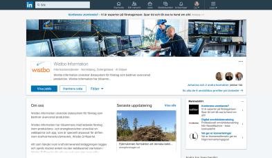 profilering LinkedIn Wistbo driftportal Norrköping