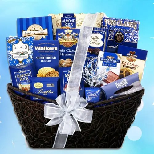 Lindt Dark Chocolate Truffles and More with Santa's Christmas Snacks Gift Basket Sweepstakes