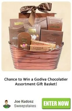 Godiva Chocolatier Assortment Gift Basket Sweepstakes