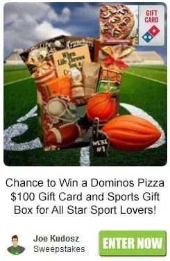 Dominos Pizza and Sports Fan Gift Box Sweepstakes
