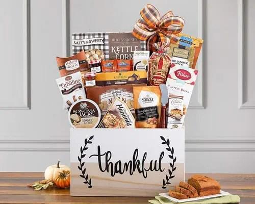 Dark Chocolate Almond Toffee Thankful Harvest Gift Basket Sweepstakes