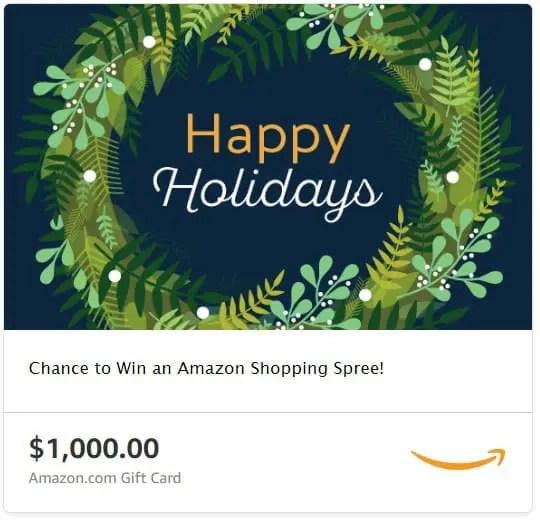 Amazon Happy Holidays Shopping Spree Sweepstakes