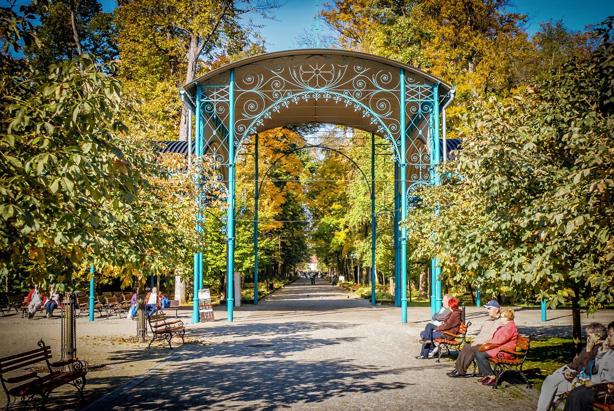 Kudowa-Zdrój wejście do Parku Zdrojowego
