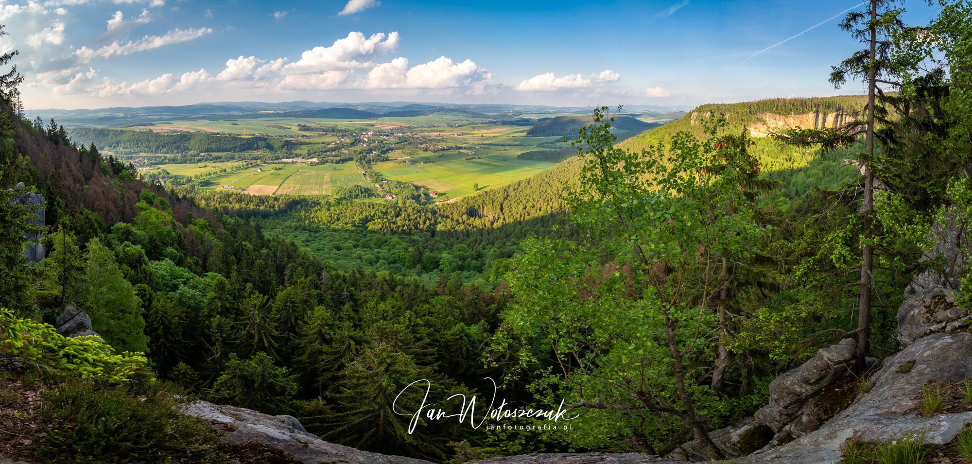 Park Narodowy Gór Stołowych widok na Radków