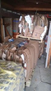 Kudrinko's cardboard bales grocery store Westport
