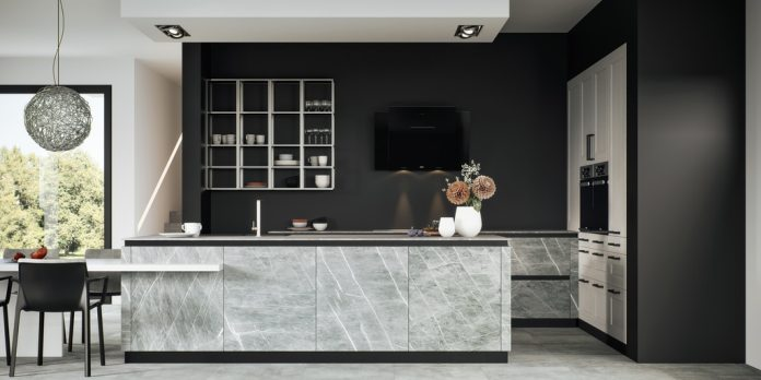 The main focus of the Villeroy & Boch kitchens is - of course - on ceramics, which is complemented by other materials such as glass, fenix and lacquer.  (Photo: Villeroy & Boch)