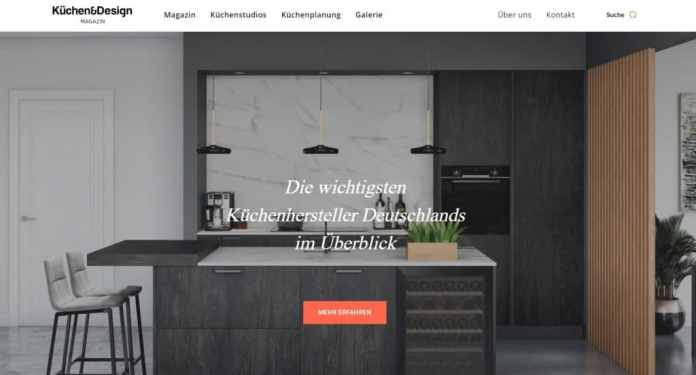 The new homepage of the Küchen & Design magazine: we have grown up.  (Photo: Küchen & Design Magazin)