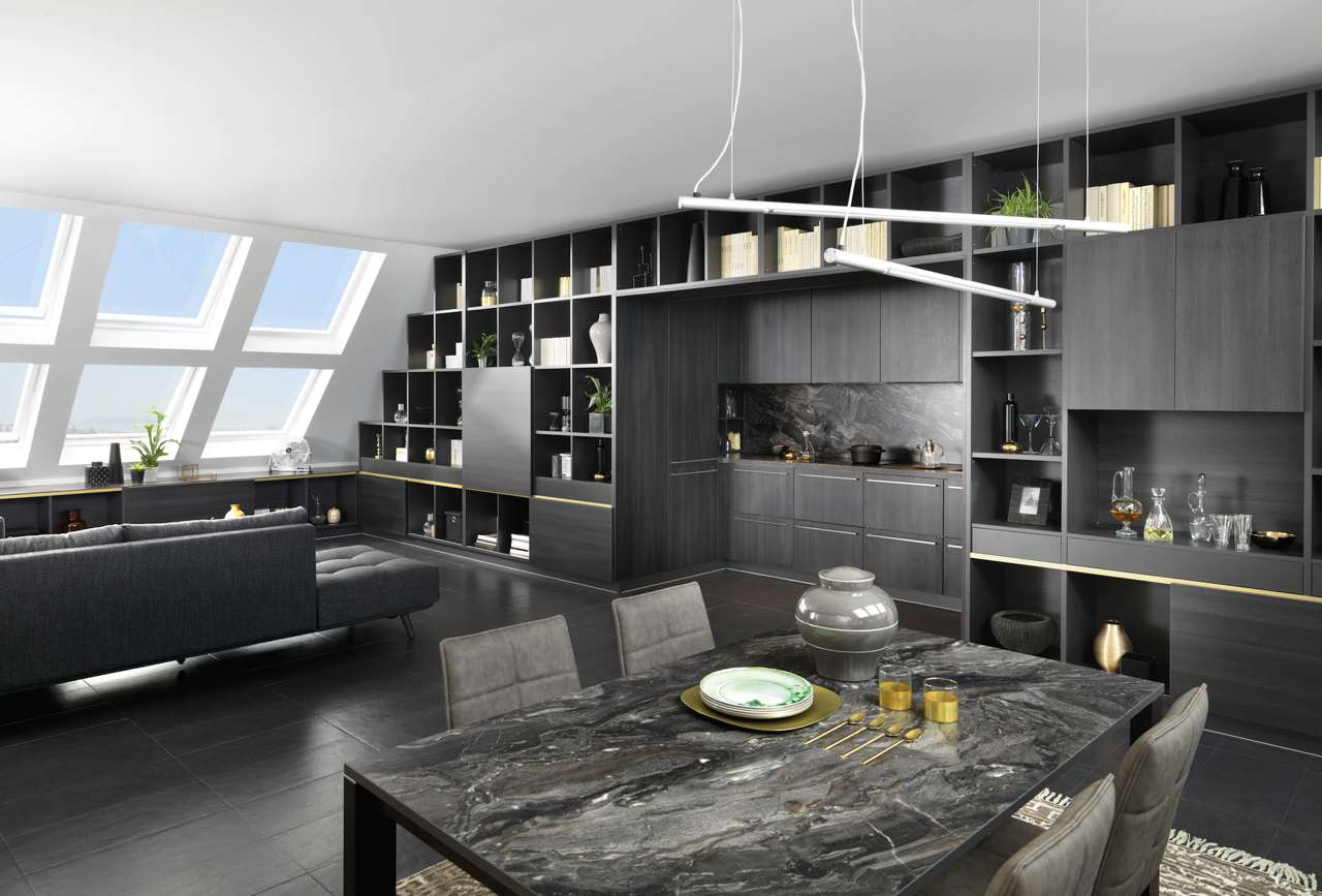 k che im schrank versteckt in der k che mit menu lilaliv. Black Bedroom Furniture Sets. Home Design Ideas