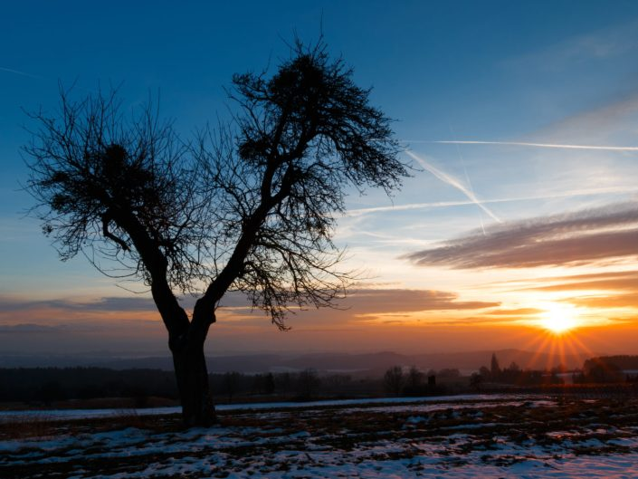 Sonnenuntergänge in Liggeringen