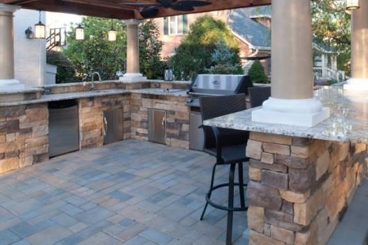 outdoor kitchen bar 3 piece bistro set reading rock grill kuert