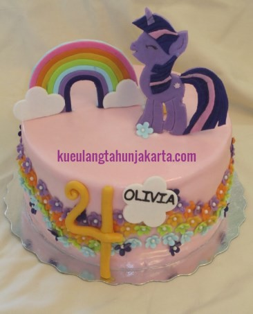 jual kue ulang tahun kuda poni fondant jakarta